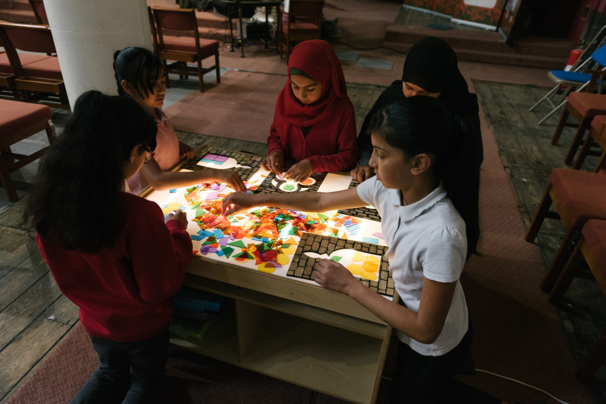 Children's activity at Stephen church, West Bowling