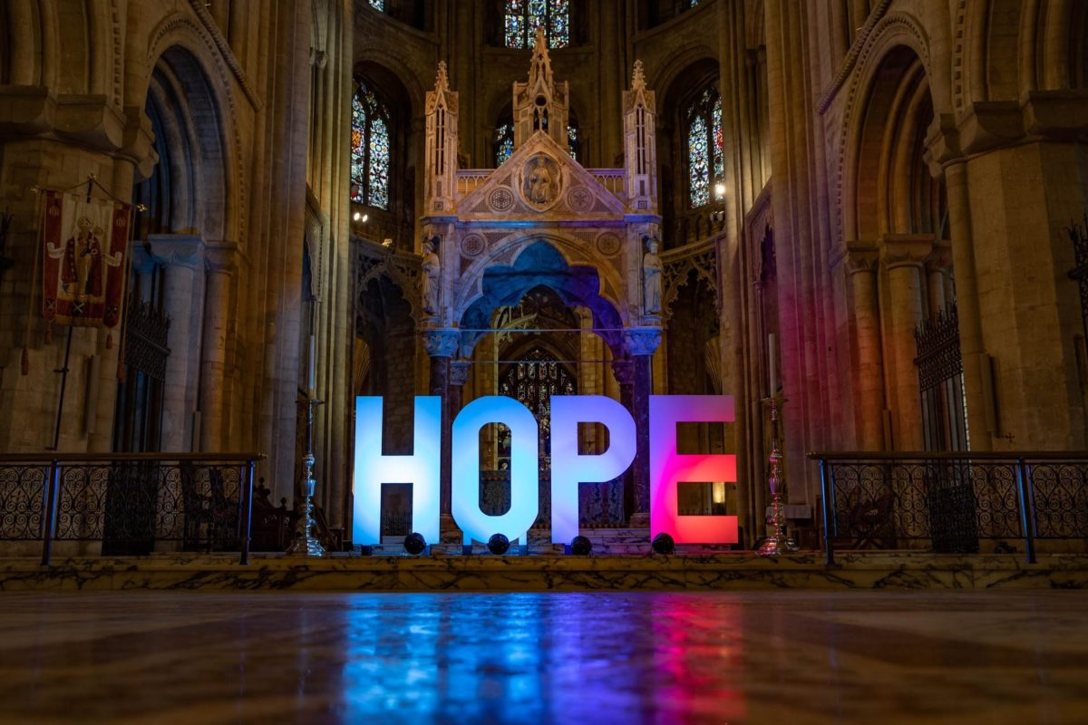 Hope in cathedral